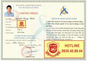 Đăng ký học và lấy chứng chỉ giảng viên dạy an toàn lao động 0835408844